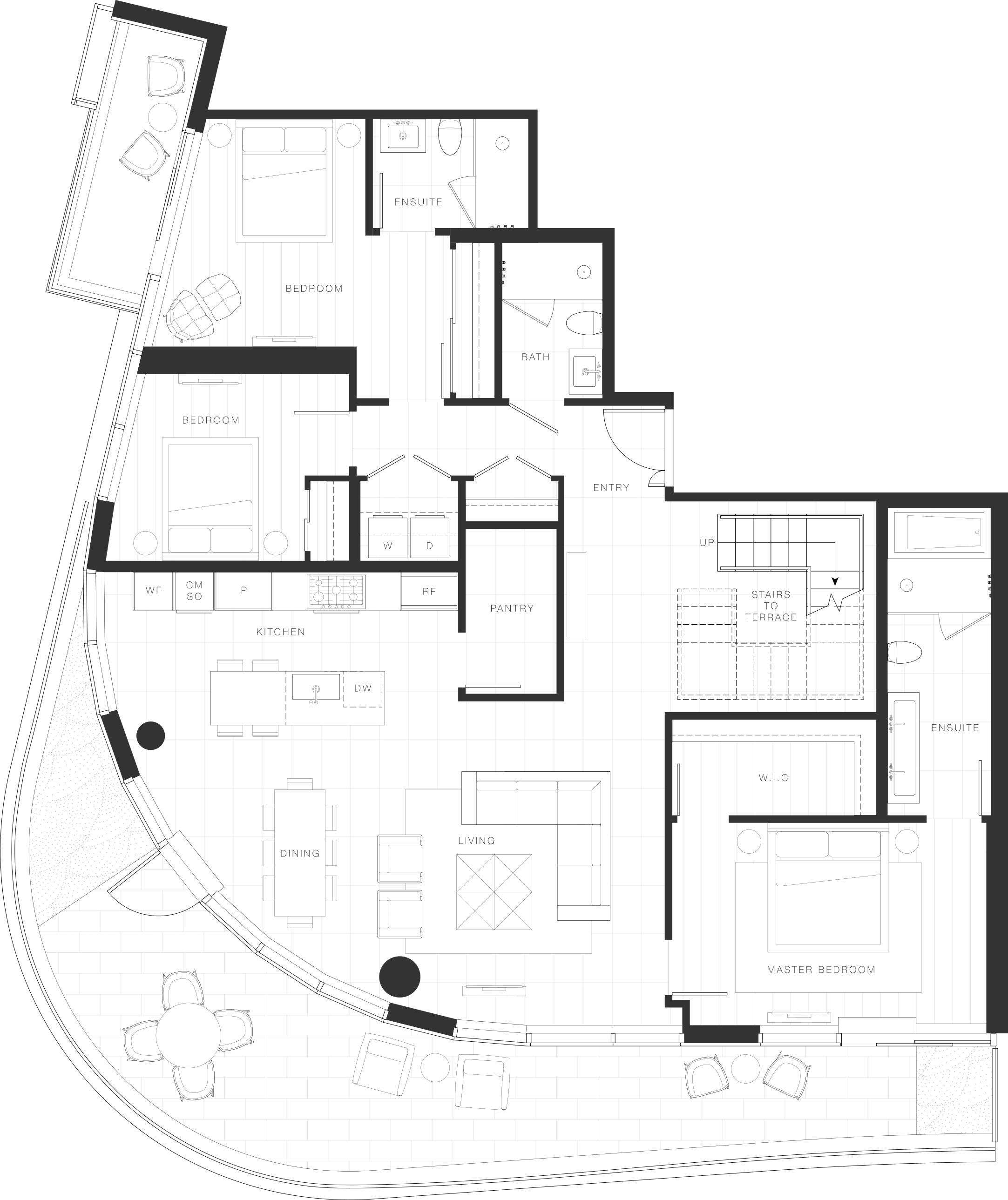 Penthouse Floorplan - Unit 1703