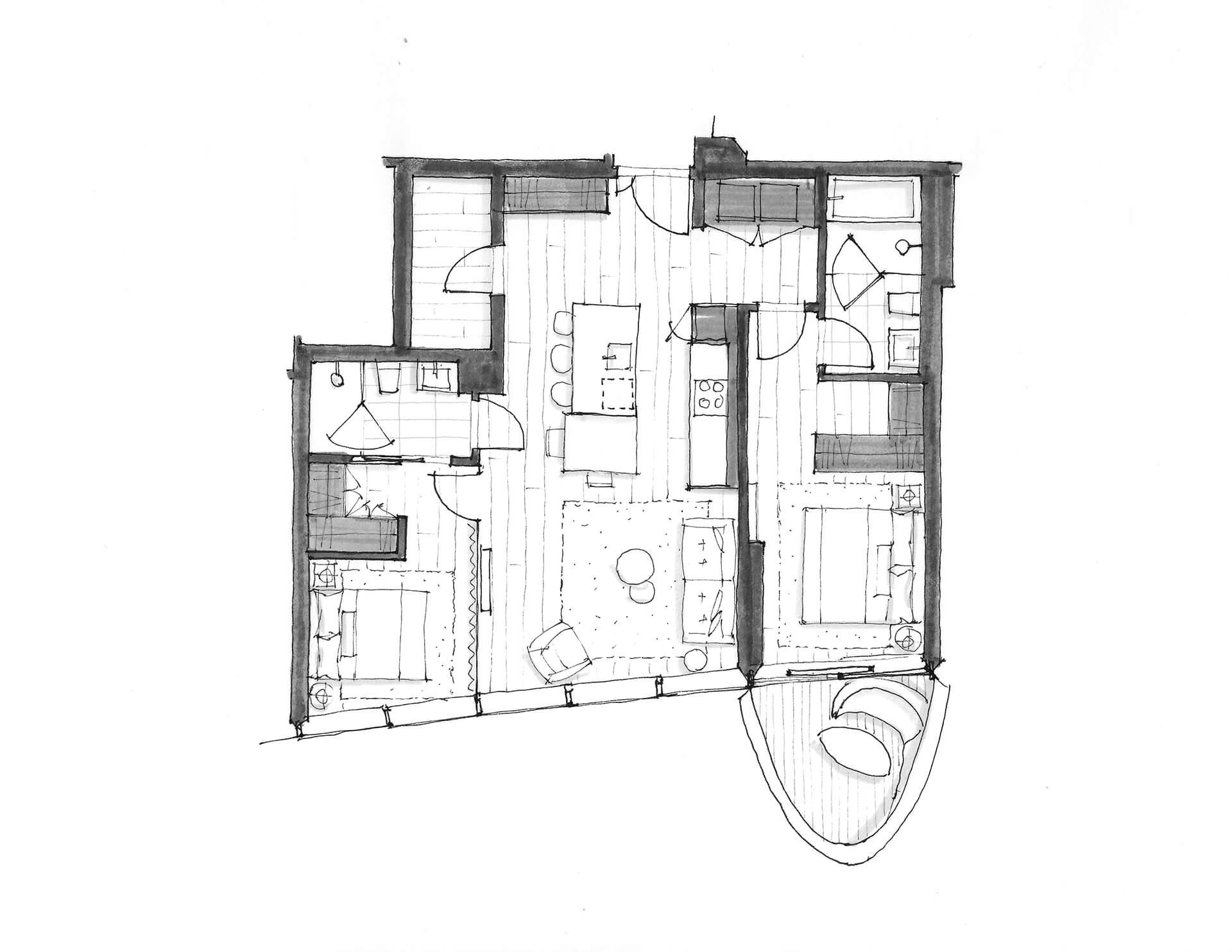 2 Bedroom - Floorplan - Unit 1805