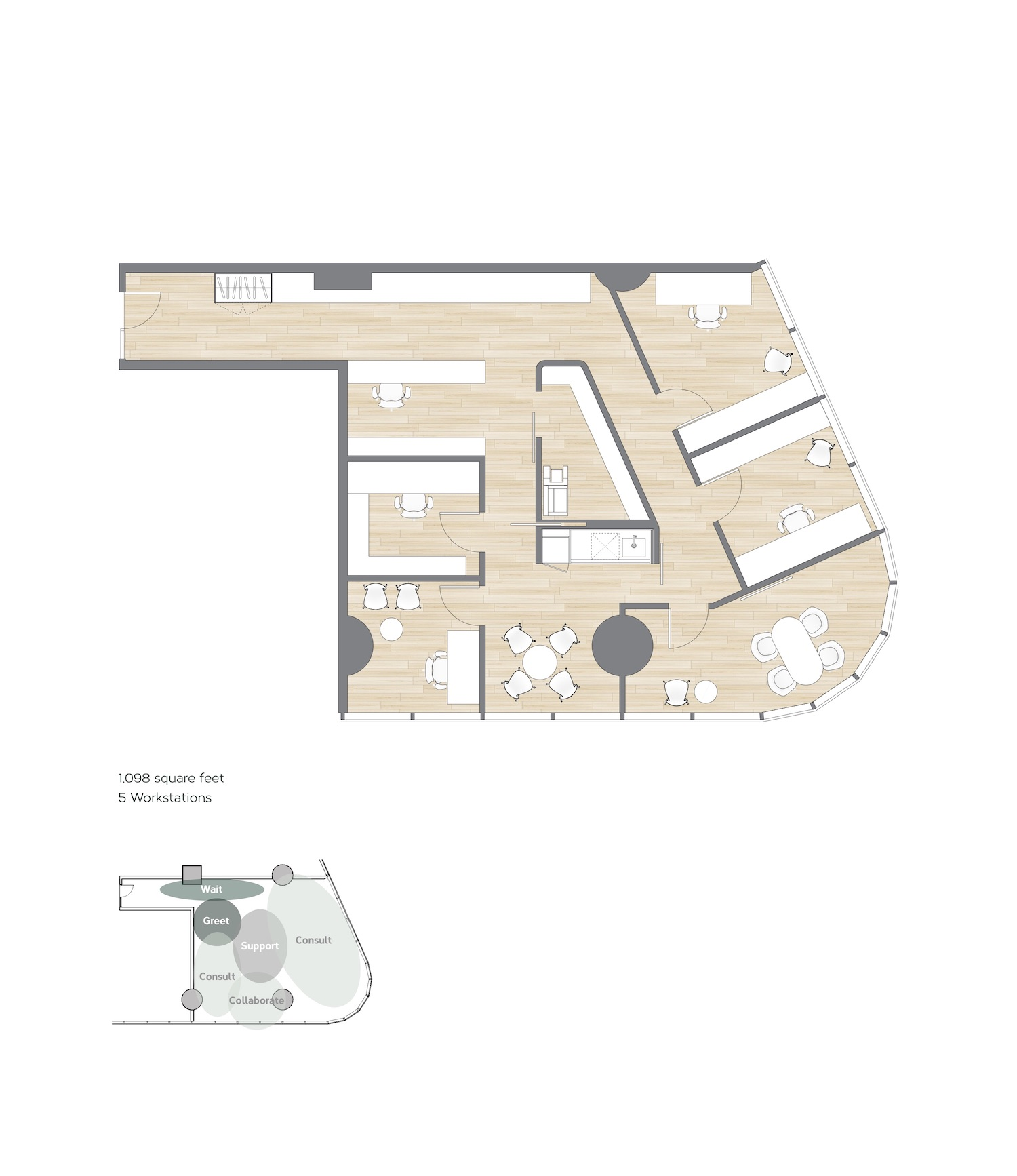 Test / Example Floorplan of an Office 02